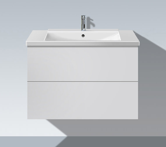 Duravit L Cube 820mm 2 Drawers Vanity Unit With P3 Comfort Basin