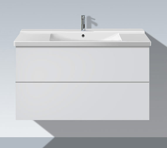 Duravit L Cube 1020mm 2 Drawers Vanity Unit With P3 Comfort Basin