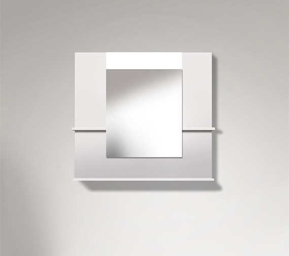 Duravit Vero 850mm Mirror With Shelves To Sides And Below