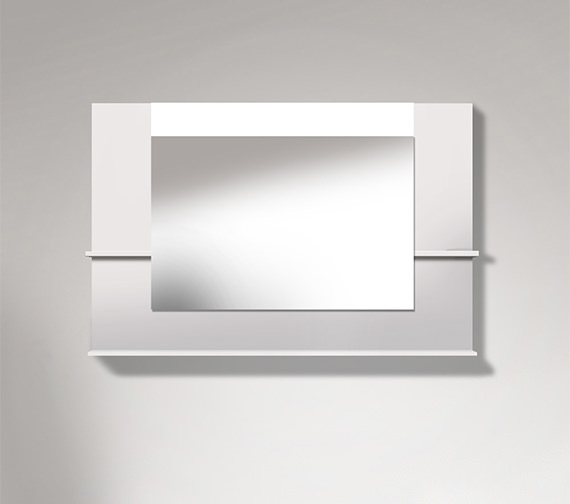 Duravit Vero 1200mm Mirror With Shelves To Sides And Below