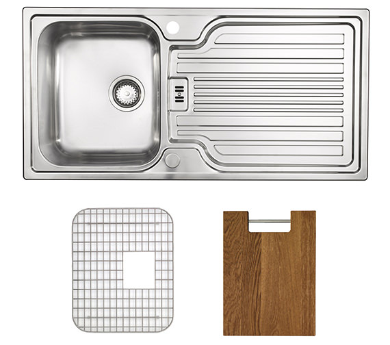 Astracast Montreux 1.0 Bowl Brushed Stainless Steel Inset Sink Pack