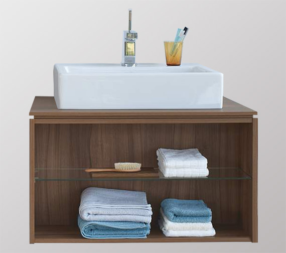 Duravit x large 800mm wall mounted opened compartment - Duravit bathroom furniture uk ...