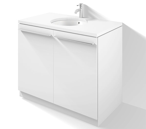 Duravit X-Large 1000mm Floor Standing 2 Door Vanity Unit - XL681101818