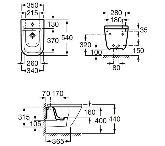 Technical drawing QS-V55563 / 357475000