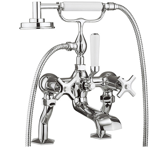 Crosswater Waldorf Crosshead Deck Mounted Bath Shower Mixer Tap With Kit