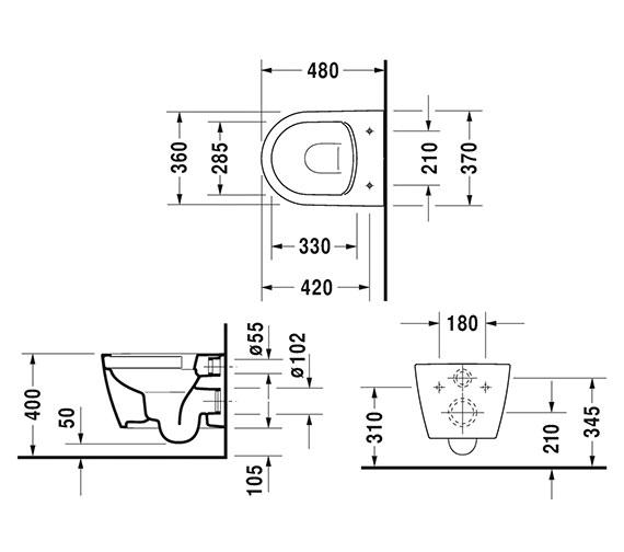 Technical drawing QS-V6365 / 2530090000