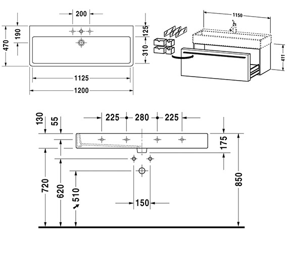 Technical drawing QS-V21188 / FO955701818