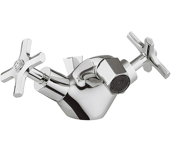 Crosswater Waldorf Crosshead Monobloc Bidet Mixer Tap With Pop-Up Waste