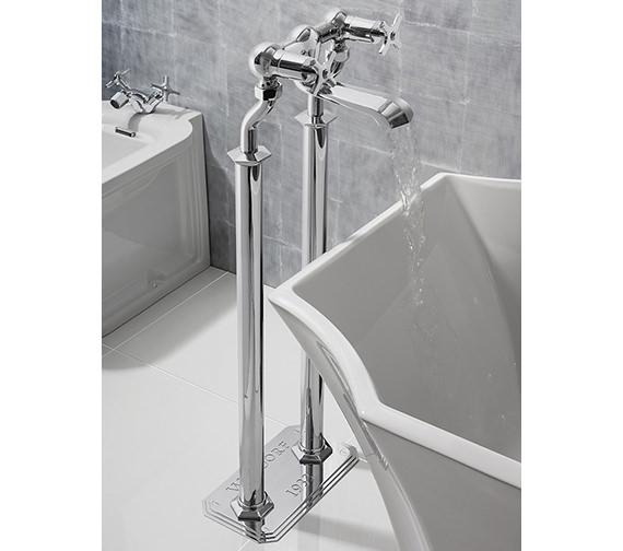 Alternate image of Crosswater Waldorf Floor Standing Crosshead Handle Bath Filler Tap