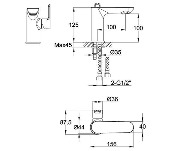 Technical drawing QS-V15393 / ERBAS
