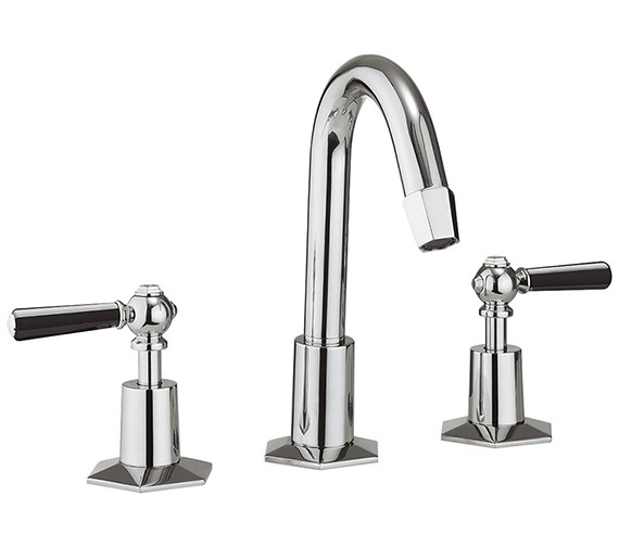 Additional image of Crosswater Waldorf Chrome Lever 3 Hole Deck Mount Basin Mixer Tap With Waste