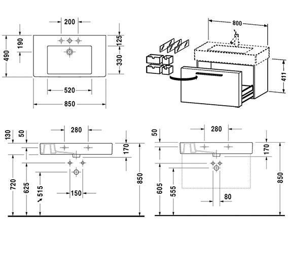 Technical drawing QS-V48431 / FO957201818