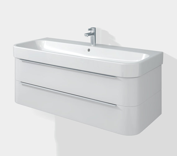 Duravit Happy D2 Two Drawers 1175mm Unit With Basin - H26367