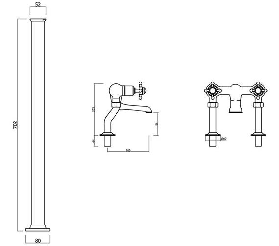Technical drawing QS-V41872 / BL322DC