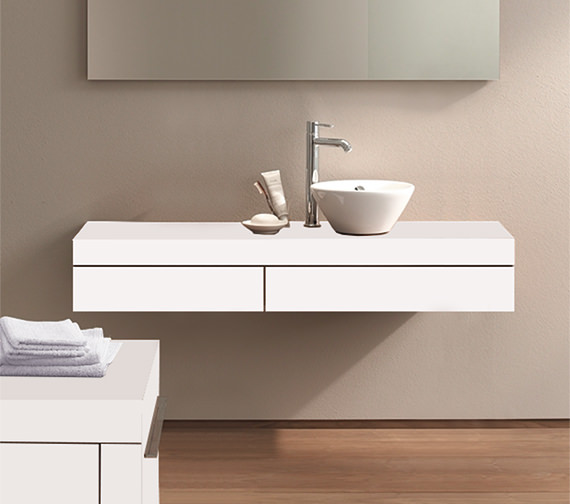 Duravit Fogo 1200 x 360mm Right Cut-Out Console Including Drawer - FO8378