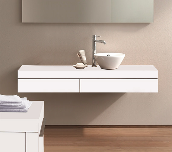 Duravit Fogo 1300 x 360mm Right Cut-Out Console Including Drawer - FO8381