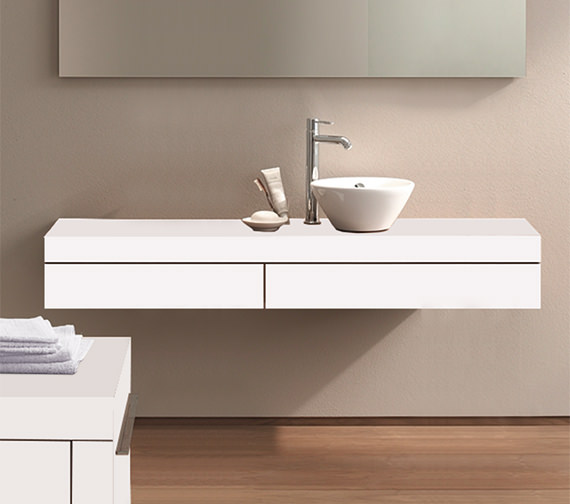 Duravit Fogo 1400 x 360mm Right Cut-Out Console Including Drawer - FO8384