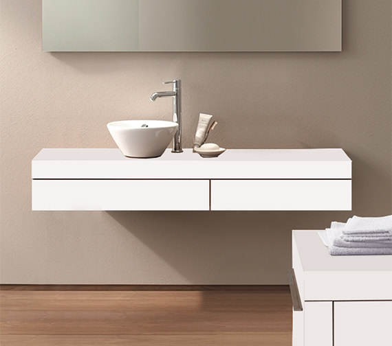 Duravit Fogo 1300 x 360mm Left Cut-Out Console Including Drawer - FO8380