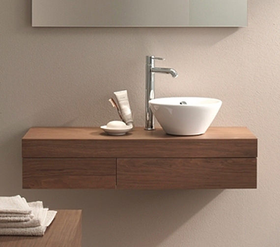 Duravit fogo 1100 x 360mm right cut out console including for Small baths 1100