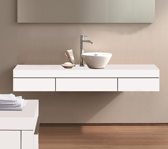 Duravit Fogo 1400 x 360mm 1 Cut-Out Central Console With 2 Drawer - FO8382