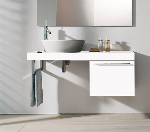 Duravit fogo 500 x 550mm floor cabinet for consoles - Duravit bathroom furniture uk ...