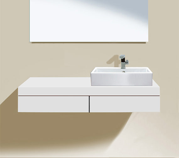 duravit fogo 1200 x 360mm right cut out console with 2. Black Bedroom Furniture Sets. Home Design Ideas