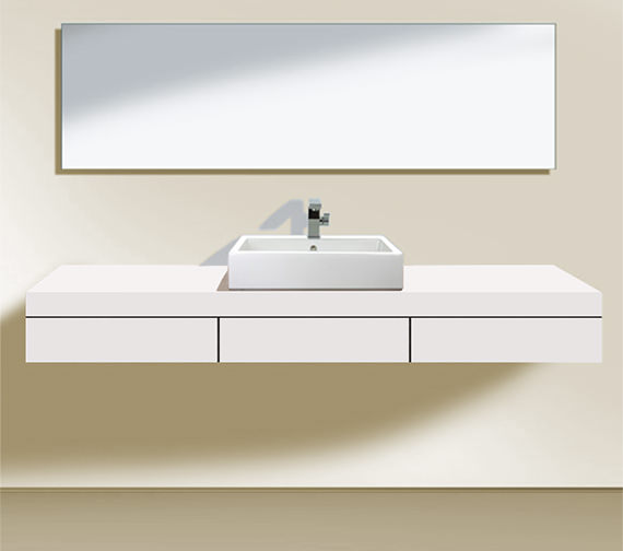 Duravit Fogo 1800 x 550mm 1 Cut-Out Central Console With 3 Drawer - FO853101818