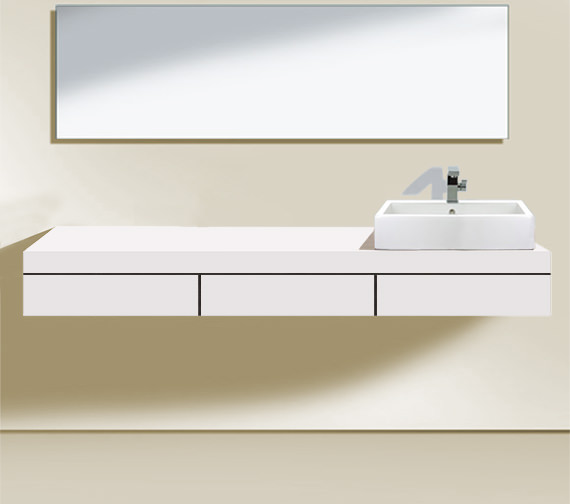 Duravit Fogo 1500 x 550mm Right Cut-Out Console With 3 Drawer - FO852901818