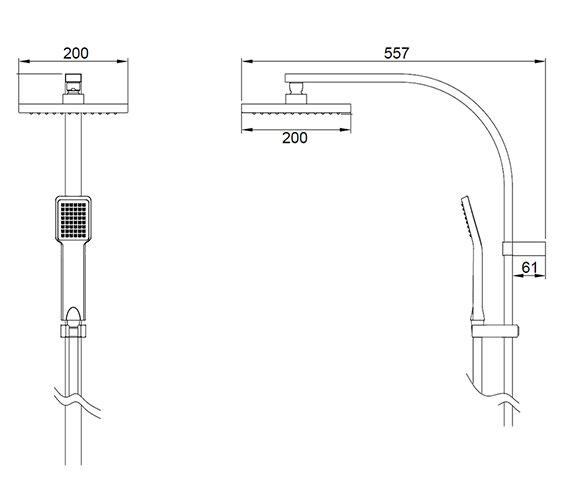 Technical drawing QS-V84288 / MB525SQ