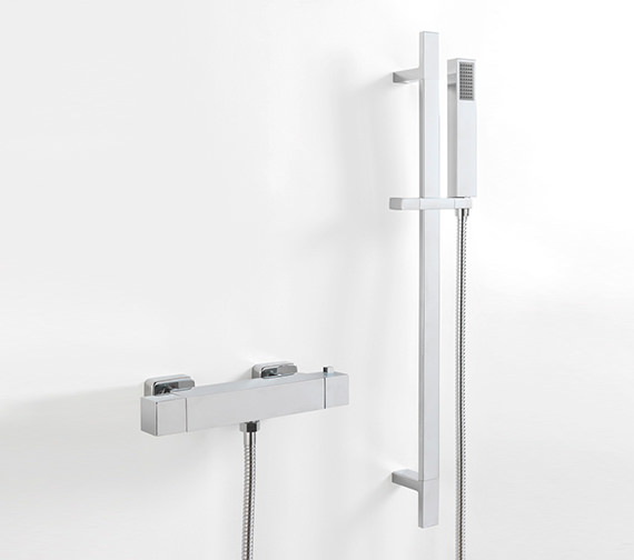 Sagittarius Stark Cube Exposed Thermostatic Shower Valve And Slide Rail Kit