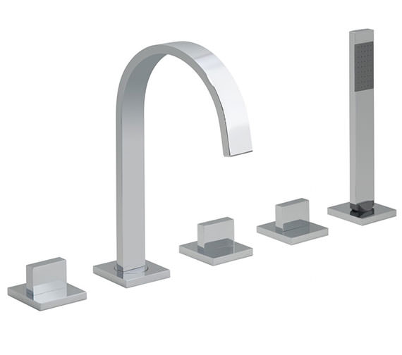 Vado Geo 5 Hole Deck Mounted Bath Shower Mixer Tap - GEO-135-3-4