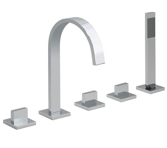 Vado Geo 5 Hole Deck Mounted Bath Shower Mixer Tap - GEO-135-3-4