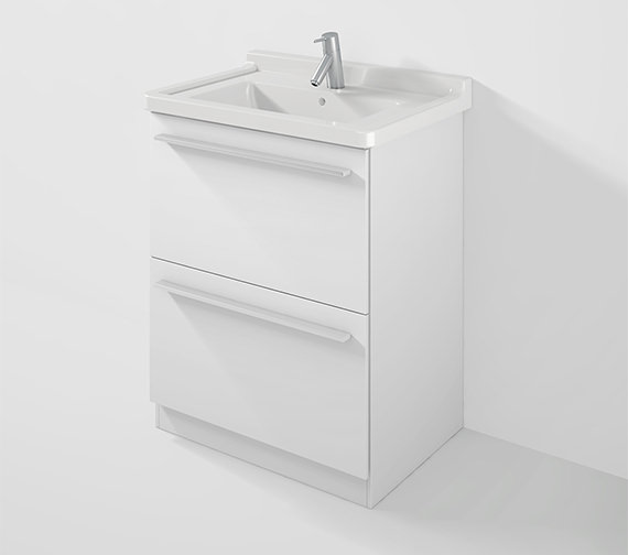 Duravit X-Large 650mm Floor Mounted Vanity Unit With 700mm Starck 3 Basin