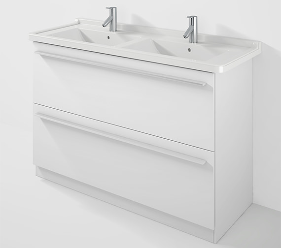 Duravit X-Large 1200mm Floor Mounted Vanity Unit With 1300mm Starck 3 Basin