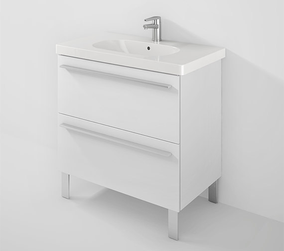Duravit X-Large 800mm Unit 2 Pullout Compartment And 850mm D-Code Basin