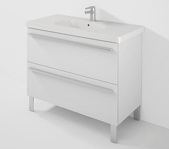Duravit X-Large 1000mm Unit 2 Pullout Compartment And 1050mm D-Code Basin