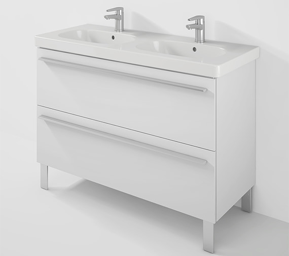 Duravit X-Large 1150mm Unit 2 Pullout Compartment And D-Code Double Basin