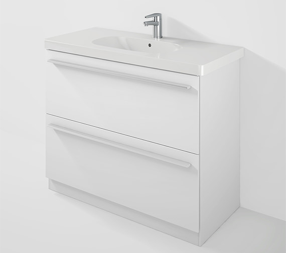 Duravit X-Large 1000mm Floor Mounted Unit And 1050mm D-Code Basin