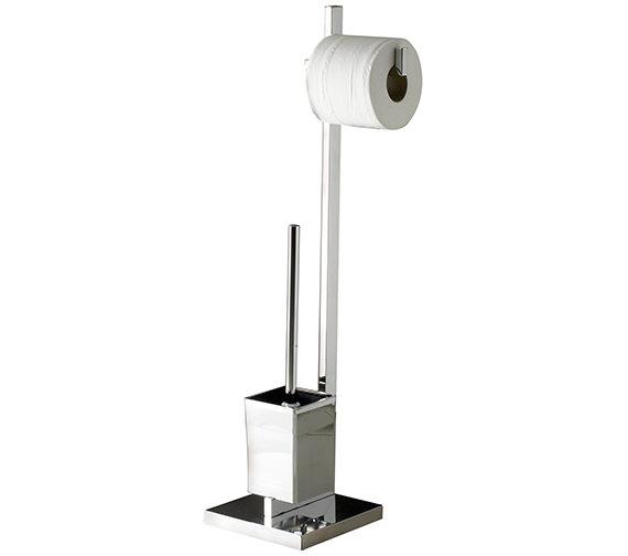 Sagittarius Madison Free Standing Toilet Brush And Roll Holder
