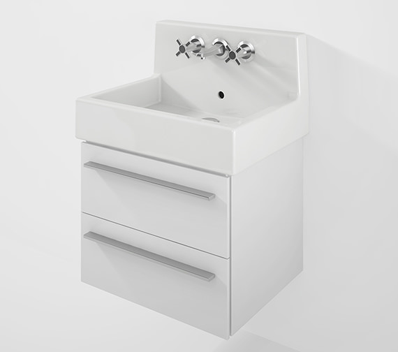 Duravit X-Large 550mm 2 Drawer Unit With 600mm Vero Back Panel Basin