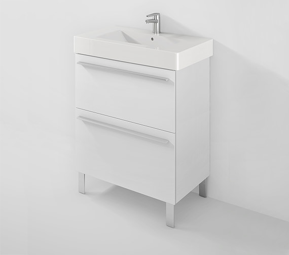 Duravit X-Large 800mm 2 Pull-Out Compartment With 850mm Vero Basin
