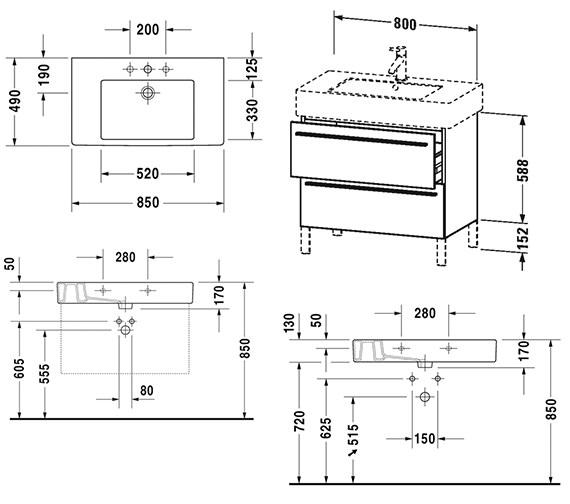 Technical drawing QS-V4427 / XL654305353
