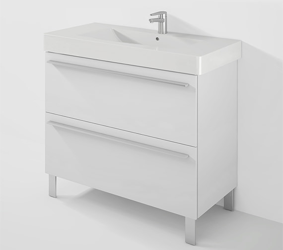 Duravit X-Large 1000mm 2 Pull-Out Compartment With 1050mm Vero Basin