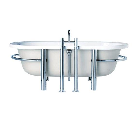 Sottini Lagaro Idealcast Freestanding Bath With Cradle 1700 x 800mm