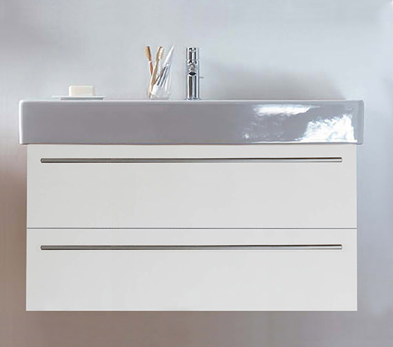 Duravit X-Large 1000mm 2 Drawer Unit With 1050mm Vero Washbasin