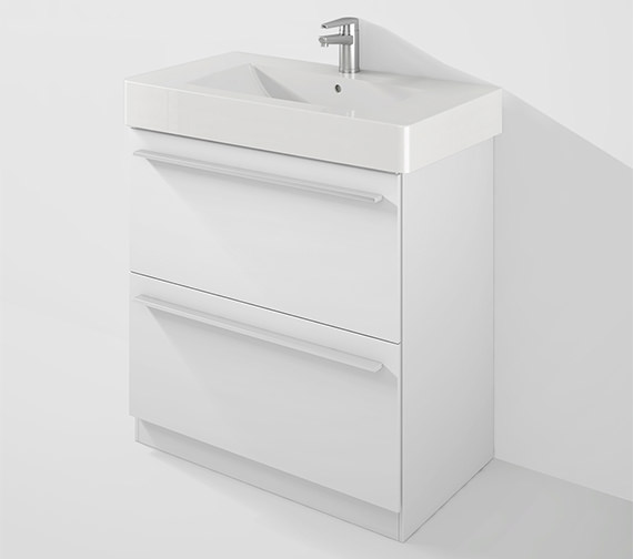 Duravit X-Large 800mm Floor Standing Unit With 850mm Vero Basin
