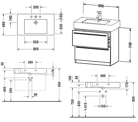 Technical drawing QS-V4433 / XL656301818