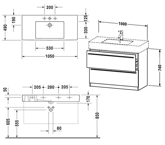 Technical drawing QS-V4434 / XL656401818