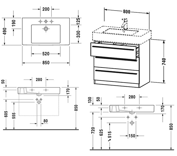 Technical drawing QS-V4436 / XL657301818