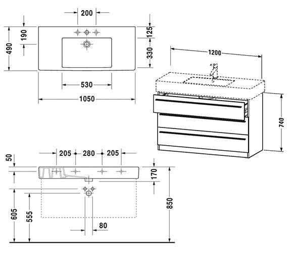 Technical drawing QS-V4438 / XL657501818